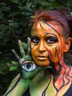 """Bodypainting, Fotos und Bildbearbeitung """"Das dritte Auge"""", 2018"""