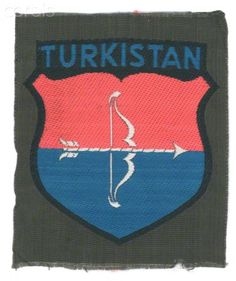 Nazi Germany,Turkistan Volunteer in the German Army (Wehrmacht) Arm shield