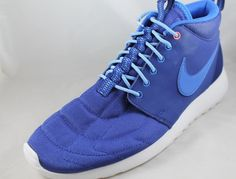 Nike Roshe Run Sample Mens Shoes 599501-400 Sz 9 Blue Sample #Nike #AthleticSneakers