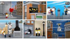 Bricksy reúne releituras de obras de Banksy feitas com LEGO