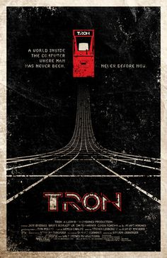 Tron Movie Poster Haven't seen the movie nor have I really played the game but I just love the design