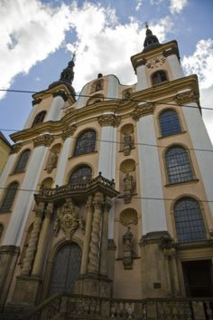 Church of Holy Virgin Mary in Snow, Olomouc (North Moravia), Czechia Sacred Architecture, Cathedral Church, Virgin Mary, Capital City, Pilgrimage, Czech Republic, Tourism, Mansions, House Styles