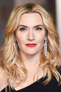2016 BAFTA Awards Beauty: Kate Winslet, who won the Supporting Actress award on the night, wore her hair in tousled waves, whilst red lips were the focus of her make-up.