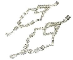 Fancy Crystal Earrings C28 Clear Post Silver Tone 3 inch Recyclebabe http://www.amazon.com/dp/B00QU3GKGE/ref=cm_sw_r_pi_dp_lykIub19RKMNQ