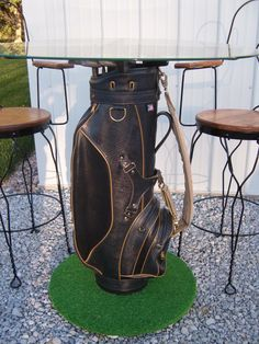 Golf decor. Golf Lovers High Top Table. Re-pinned by www.apebrushes.com. GREENS BRUSHES THAT REALLY WORK!