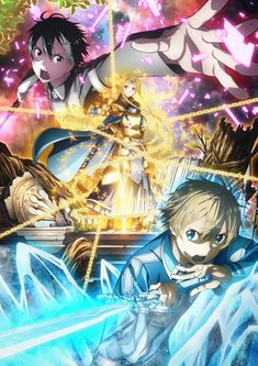 The official website for the Sword Art Online: Alicization anime began streaming a new promotional video for the anime on Monday. Sword Art Online the. Sword Art Online Kirito, Kunst Online, Online Art, Online Anime, Anime Expo, Manga Anime, Sao Anime, Manga Girl, Anime Girls
