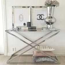 Nico stainless steel console table