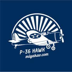 P-36 Hawk camiseta azul navy http://www.miyakao.com/es/camisetas.html