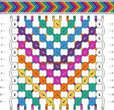 Normal Friendship Bracelet Pattern #2105 - BraceletBook.com
