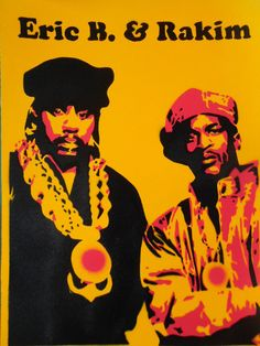 painting of hip hop legends Eric B n Rakim