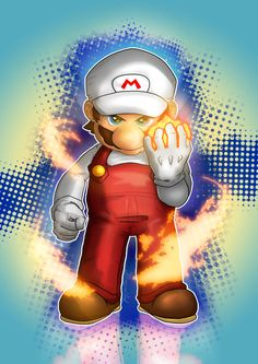 Mario Fire Starter by Vladiftimescu on DeviantArt Super Mario Bros, Mundo Super Mario, Super Mario World, Super Mario Brothers, Super Smash Bros, Mario Tattoo, Mario E Luigi, D Mark, Fire Flower