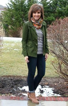 Styling my military jacket on Day 28 of my 31 Days of Winter Fashion