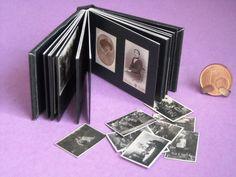 Miniatur - Fotoalbum: DIY oder finished,1:6 für die Puppenstube, Puppenhaus, dollhouse