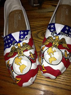 Let your shoes show your patriotism: 33 Pairs Of Unbelievably Beautiful Custom TOMS My Marine, Marine Sister, Marine Corps, Marines Girlfriend, Shoe Show, Pretty Shoes, Classy And Fabulous, Love, Me Too Shoes