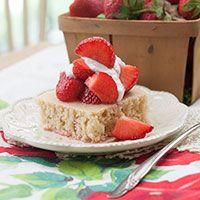 Balsamic Strawberries w/ Vanilla Shortcake... Vegan, Soy-Free & Refined Sugar-Free