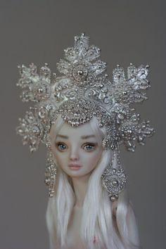 Snowflakes - porcelain bjd doll by Marina Bychkova (Enchanted Doll)- photo by Cisley Enchanted Doll, Pretty Dolls, Beautiful Dolls, Ooak Dolls, Barbie Dolls, Marina Bychkova, Toy Art, Paperclay, Little Doll
