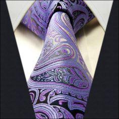 Purple / Black Floral Necktie