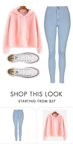 """Untitled #460"" by cuteskyiscute on Polyvore featuring Topshop and Converse"