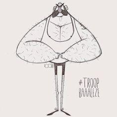 Troop Baaalèze !!! Doodle du jour, Doodle of the day #doodleoftheday #troop_baaaleze #bigger #strong #2D #2Dart #sketch #rough #drawing #cartoon #toon #CharacterDesign #characterdesigner #loobiart loobiart.com