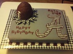 Not the cake...but the board it's on! Cute idea to wrap the cake board in houndstooth