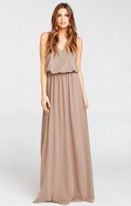 Kendall Maxi Dress ~ Dune Chiffon