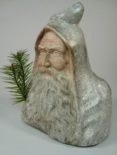 Pappmache Santa/Belsnickle Candy container handmade | eBay