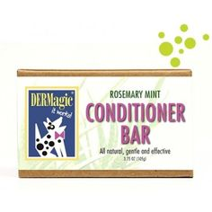 DERMagic Rosemary Mint Conditioner Bar for Dogs