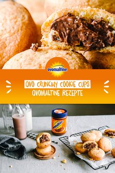 Snack Recipes, Snacks, Cookie Cups, Cookies Et Biscuits, Biscotti, Nutella, Food And Drink, Sweets, Attention