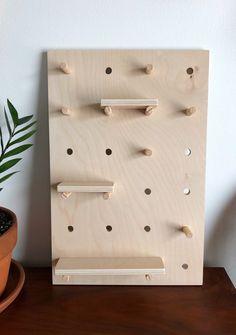 Pegboard Shelf : The Vanity Peggie Leaning Tabletop Pegboard