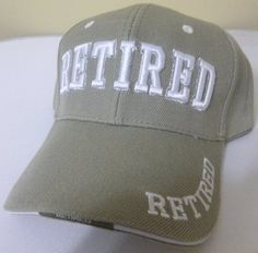 RETIRED TAN/ KHAKI/ BEIGE Baseball Cap for Fathers/ Dads, Grandfathers, Moms/ Mothers, Grandmothers, Friend, Co-workers, Retirement Party Parties, Humorous Novelty Funny Fun Hat by Patriotic Christian Caps, http://www.amazon.com/dp/B00AMDXVVK/ref=cm_sw_r_pi_dp_JtMtrb0M9AW61