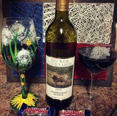 Becker Vineyards Tempranillo paired with a Baby Ruth, #happynationalchocolateday #beckervineyards #txwine