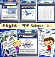 This 70 page Science PDF Flight file includes the essentials to cover your flight unit. A great visual presentation for your students. Many colourful pages and photos. Check out and download the free preview before you buy.Included are:1) The Four Factors of Flight2) Definitions 3) Labeled Diagram of a Plane4) Properties that make flight possible5) Bernoulli's Principle6) Characteristics and Adaptations that enable things to fly7) Common Applications of the properties of air8) A Flight word…