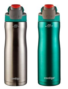 Contigo 2 Pack Stainless steel water bottle - 18 hours cold -- Read more reviews of the product by visiting the link on the image.