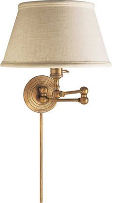 boston swing arm lamp with linen shade traditional wall sconces