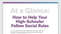 Graphic of Trouble Following Social Rules: How to Help Your High-Schooler