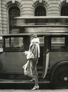 """Clothes and the Car. At the Theatre"", photo by Cecil Beaton for Vogue, 1927"