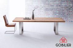 Cauti o #masa din #lemnmasiv? Cu picioare si design moderne? Esti FIX unde trebuie! Găsesti la #Gobilier diverse modele si lungimi. Mese fixe, neextensibile. Personalizezi culoarea blatului (diverse modele). Ti-o aducem acasa! #☎️ 0748048048 #📩 contact@gobilier.ro Solid Wood Dining Table, Rustic Table, Dining Room Table, Dining Bench, Home Living Room, Architecture, Diy Home Decor, New Homes, House Design
