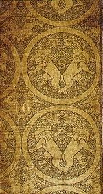 Silk panel with winged lions, Central Asian, probably 13th, Cleveland Art Museum   Flickr - Fotosharing!