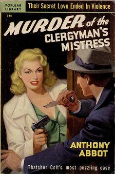 Murder of the Clergyman's Mistress. #vintage #book #cover #pulpart #paperback #illustration