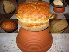 1010. Andulčin chléb pečený ve velkém květináči z terakoty - recept pro domácí pekárnu Dairy, Bread, Cheese, Baking, Food, Brot, Bakken, Essen, Meals