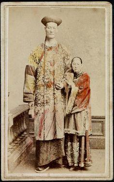 Changthe Giant and his wife Kin Foo, 1871 via