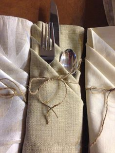 Complimentary and unmatched napkins for tables