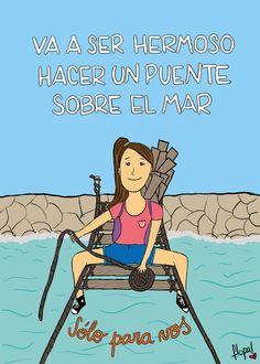 Tema: Hacer un puente  Intérprete: La Franela Music Quotes, Love Songs, Song Lyrics, Decir No, Artsy, Family Guy, Sayings, Comics, Words