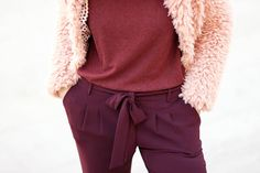 Pantalon bordeaux @123modefemme // Blog mode Lyon Artlex fashion blog