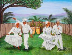 Puerto Rico Art | ... by Juan Gonzalez - Bomba Dance Fine Art Prints and Posters for Sale