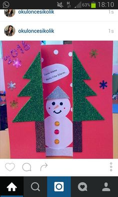 Christmas Crafts For Kids, Christmas Printables, Christmas Diy, Christmas Cards, Christmas Ornaments, Welcome Banner, Arts And Crafts, Paper Crafts, Snowman Crafts
