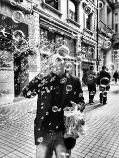 Beyoğlu, İstiklal Caddesi, Turkey, Black&White   by Özgür Çankaya