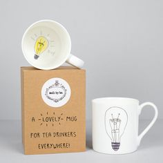 A bone china mug decorated with my original illustrations, perfect for gift for teachers, students and all those who believe in the power of tea! We all need a bit of help sometimes, and whether its tea, coffee, or something a little stronger, this mug is on hand to get the juices flowing once again!  Each mug has been professionally manufactured and is hand decorated with my original designs, all mugs are dishwasher and microwave safe. I believe you need the right tools to create the…