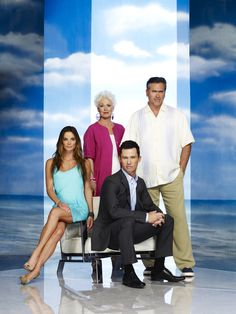 Gabrielle Anwar ✾ and the cast of Burn Notice