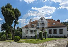 Little Manor House somewhere in Poland . In the small town.